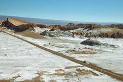 Amphitheatre w księżyc dolinie, Atacama pustynia, Chile Obraz Stock