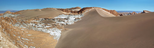 Amphitheatre w księżyc dolinie, Atacama pustynia, Chile Obraz Royalty Free