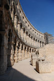 Amphitheatre. Wall of Pula Arena, an antique amphitheatre in Croatia Stock Image