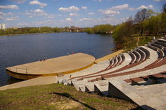 Amphitheatre on the water  Royalty Free Stock Photography