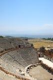 Amphitheter dans Hierapolis, Pamukkale, Turquie. Image libre de droits