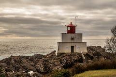 Amphitrite Light House. Vancouver Islands Ucluelet on Vancouver Island west coast BC Canada stock photos