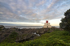 Amphitrite Lighthouse in Ucluelet Royalty Free Stock Image