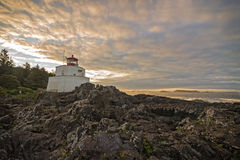 Amphitrite Lighthouse in Ucluelet Stock Image