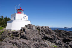 Amphitrite Lighthouse in Ucluelet, Vancouver Island, British Col Stock Photography