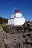 Amphitrite Lighthouse in Ucluelet, Vancouver Island, British Col Stock Image