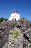 Amphitrite Lighthouse in Ucluelet, Vancouver Island, British Col Royalty Free Stock Photography
