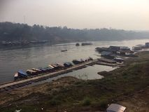 Amphoe Sangkhla Buri sikt Royaltyfria Foton