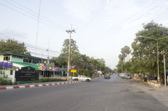 Amphoe Sattahip street view in  thailand. Royalty Free Stock Photography