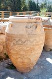 Amphora. Giant clay jars from the Palace of Knossos. Knossos is the largest archaeological site on Crete Royalty Free Stock Image