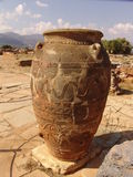 Amphora. Giant amphoras from the Knossos palace Royalty Free Stock Photography