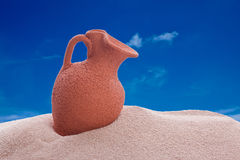 Amphora on a beach Royalty Free Stock Photo