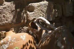 Amphora on Bodrum Castle Stock Photo