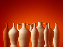 Amphora. Classic old style. Amphora's. Classic old style On the red background Royalty Free Stock Photos