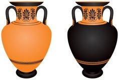 Amphora, de cerámica arqueológico antiguo de Grecia Foto de archivo