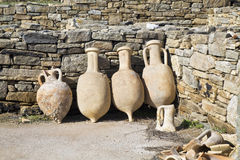 Amphora de Delos Photographie stock