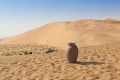 Amphora in desert Royalty Free Stock Image
