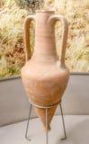 amphora 1st Eeuw BC klei Stock Foto's