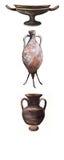 Amphorae och vases forntida Rome Arkivfoton