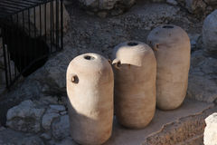 Amphorae in the old city of Jerusalem. Israel Royalty Free Stock Image