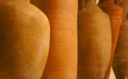 Amphorae used to transport wine Royalty Free Stock Photos