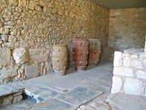 Amphoras antiques de Crète Photographie stock libre de droits