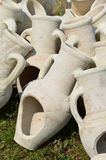 Amphoras as garden pottery Stock Image