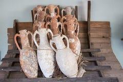 Amphoras. In Bodrum Castle, Aegean Coast of Turkey stock photo