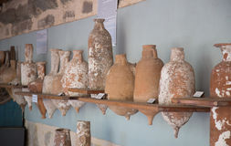 Amphoras. In Bodrum Castle, Aegean Coast of Turkey royalty free stock photography