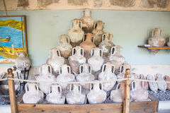 Amphoras. In Bodrum Castle, Aegean Coast of Turkey stock photography