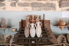 Amphoras in Bodrum Castle, Turkey stock image