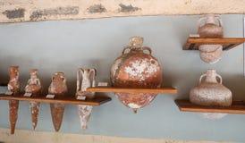 Amphoras in Bodrum Castle, Turkey royalty free stock photo