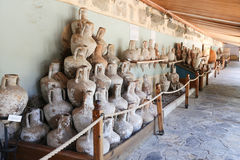 Amphoras in Bodrum Castle, Turkey stock photo