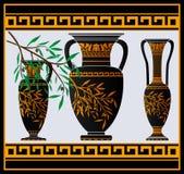 Amphoras e jarro gregos Imagem de Stock