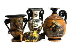 Amphoras greci Fotografia Stock
