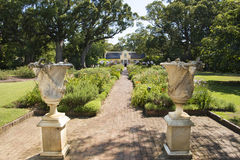 Amphoras and manor house, South Africa Stock Photos