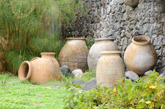 Amphoras mediterranei Fotografia Stock Libera da Diritti