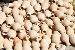 Amphoras in a traditional pottery Stock Photo