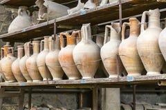 Amphore in Pompeii Stock Photography