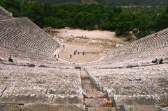 Ampi-teatro antico di Epidaurus Immagine Stock
