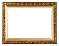 Ampia cornice dell'oro fotografia stock