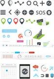 Ampia raccolta dei grafici di web Immagine Stock