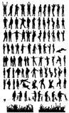 Ampia raccolta della siluetta Immagine Stock Libera da Diritti