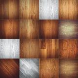 Ampia raccolta delle strutture di legno Fotografia Stock Libera da Diritti