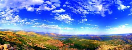 Ampia vally vista fotografia stock libera da diritti