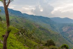 Ampia vista della vista del punto di suicidio a Ooty, India, il 19 agosto 2014 Fotografia Stock Libera da Diritti