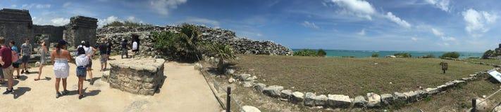Ampia vista di Tulum Messico! Fotografia Stock