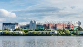 Ampia vista di vecchio stadio di Trafford fotografia stock