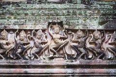 Ampio Angkor Wat Stone Carving Fotografia Stock