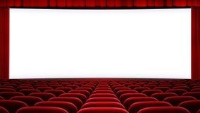 Ampio backgound dello schermo del cinema (16:9 di allungamento Fotografie Stock